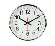 Clock isolated with clipping path royalty free stock image
