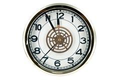 Clock isolated on white Royalty Free Stock Image