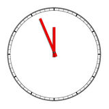 Clock. Isolated on a white background Royalty Free Stock Image