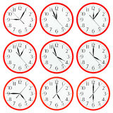 Clock isolated on white background Royalty Free Stock Photography