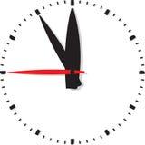Clock isolated on white background Stock Image