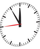 Clock isolated on white background Royalty Free Stock Images