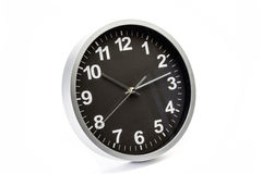 Clock isolated on white stock photo