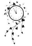 Clock and ivy Stock Photos