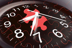 Clock and Jigsaw Puzzles Royalty Free Stock Photos