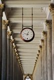 Clock from Karlovy Vary Royalty Free Stock Photo