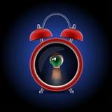 Clock with keyhole eye Royalty Free Stock Photos