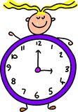 Clock kid Royalty Free Stock Image