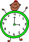 Clock kid Royalty Free Stock Images