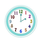 Clock for  kids Stock Image