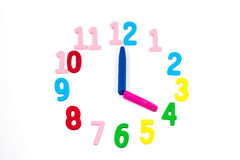 Clock for kids Royalty Free Stock Image