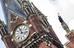 The clock of King's cross St Pancras royalty free stock photo