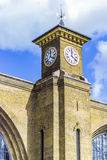 The clock of King's cross St Pancras royalty free stock image
