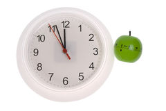Clock in kitchen Royalty Free Stock Image