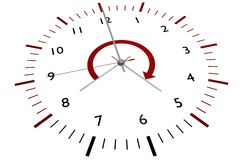 clock kontoret Royaltyfria Bilder