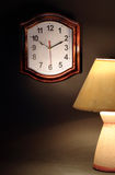 Clock And Lamp Stock Photo