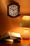 Clock Lamp Books Royalty Free Stock Images