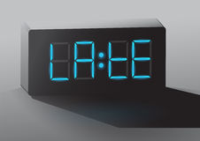 Clock late Royalty Free Stock Photography