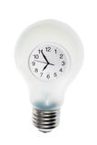 Clock in Light Bulb Royalty Free Stock Photo