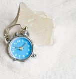 Clock and limestone Stock Photo