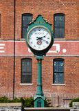 The clock in Lititz, Pennsylvania royalty free stock photo