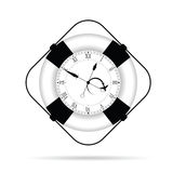 Clock in live saver illustration Royalty Free Stock Photos