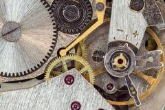 Clock machanism Stock Image