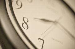 Clock macro. Stock Image