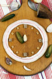 Clock made of food Stock Image