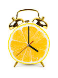 Clock made of fruit Royalty Free Stock Photos