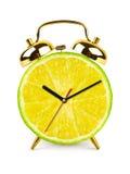 Clock made of fruit Stock Photos