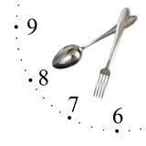 Clock made of spoon and fork Stock Photography