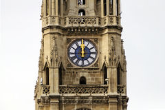 Clock on the main tower of the Vienna town hall (Wiener Rathaus) Stock Photography