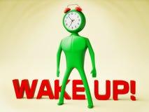 Clock-man Royalty Free Stock Photography