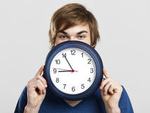 Clock man Stock Image