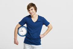 Clock man Stock Images