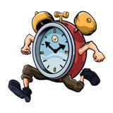 Clock Man Running Royalty Free Stock Photos