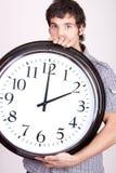 clock mannen Arkivfoto
