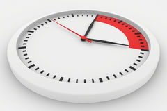 Clock with marked border red time Royalty Free Stock Photo