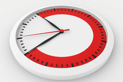 Clock with marked border red time Stock Photography