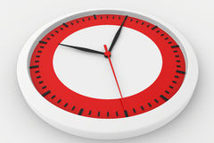 Clock with marked border red time Royalty Free Stock Photos