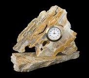 clock marmor Fotografering för Bildbyråer