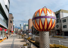 Clock in Matsumoto, Japan. Matsumoto, Japan - March 06, 2015: Decorative clock on the streets of Matsumoto Stock Photography