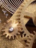 Clock Mechanism. Close-up detail of clock interior Stock Images