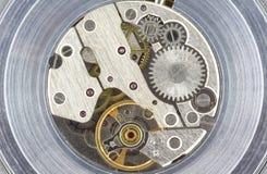 Clock Mechanism. Close up of a clock interior Stock Images