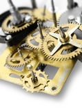 Clock mechanism. Old clock mechanism gears and cogs, time concept Royalty Free Stock Image