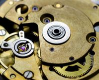 Clock mechanism. Royalty Free Stock Photography