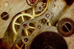 Clock mechanism. Vintage old clock mechanism. Macro royalty free stock images
