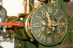 Clock mechanism of bell tower Stock Images