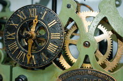 Clock mechanism of bell tower Stock Photo